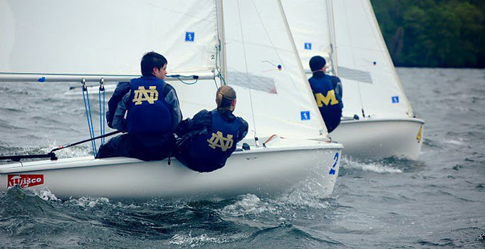 students on a sailboat