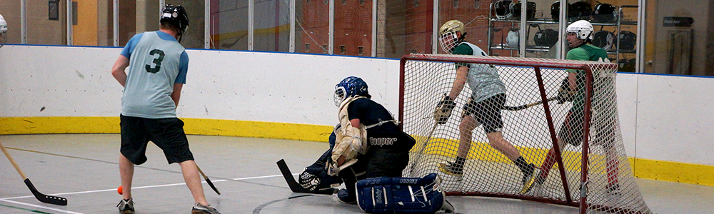 Notre Dame Recsports Intramural Sports Floor Hockey Official Spring 2016 Goalie Featured Image
