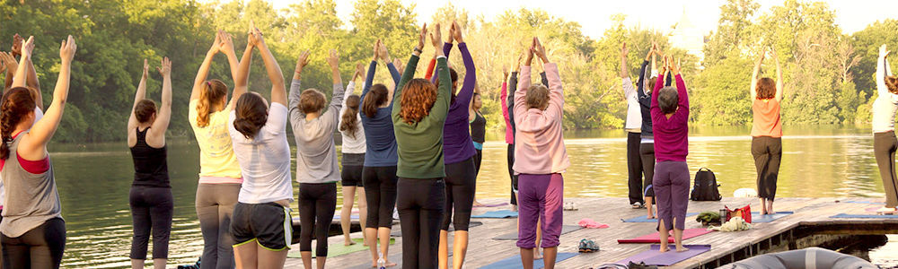 Notre Dame Recsports Yoga On The Dock Earth Day 2016 Featured Image