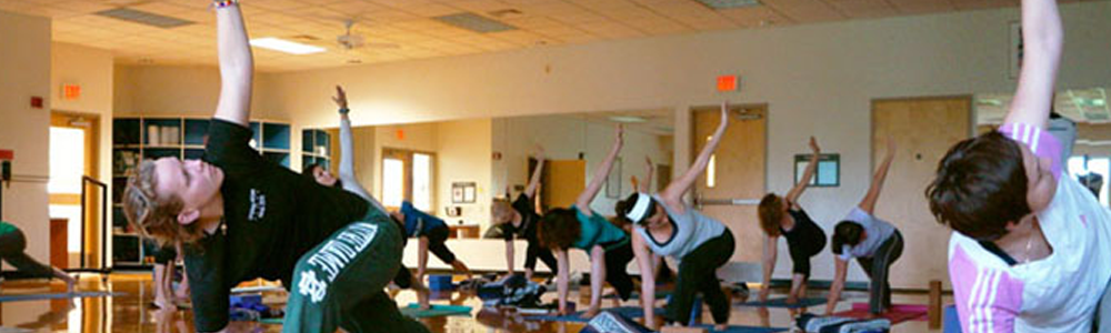 Notre Dame Recsports Group Fitness Class Yoga2 Summer 2016 Featured Image