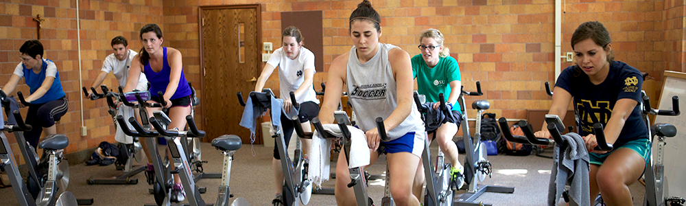 Notre Dame Recsports Group Fitness Class Cycling Express Summer 2016 Featured Image