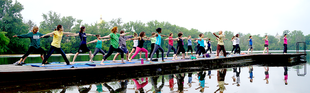 Notre Dame Recsports Summer Freebies Yoga On The Dock Summer 2016 Featured Image