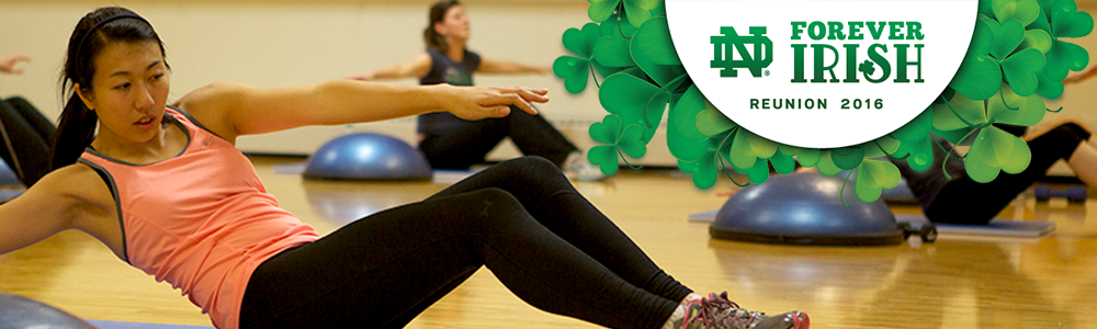 Notre Dame Recsports Reunion Weekend 2016 Group Fitness Classes