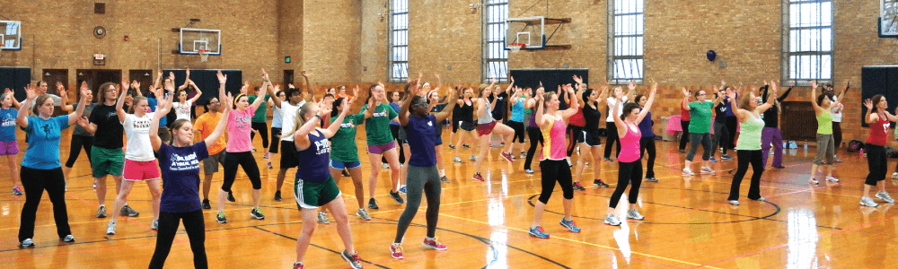 Notre Dame Recsports Pink Zone Fitness Party 2017 Featured Image