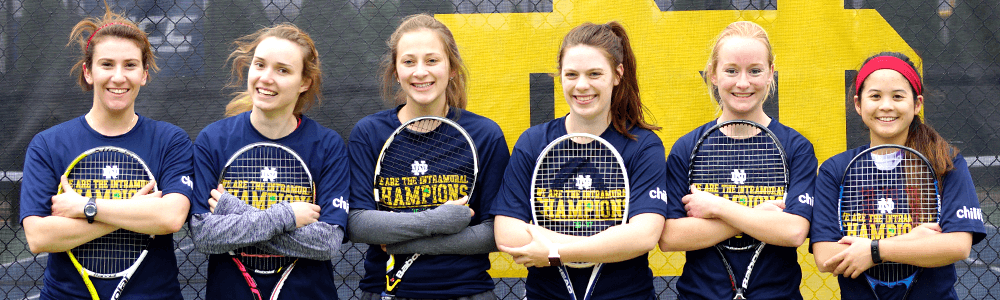 Notre Dame Recsports Intramural Sports Champions Interhall Tennis Featured Image