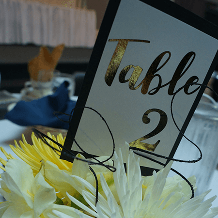Table Numbers 450 X 450