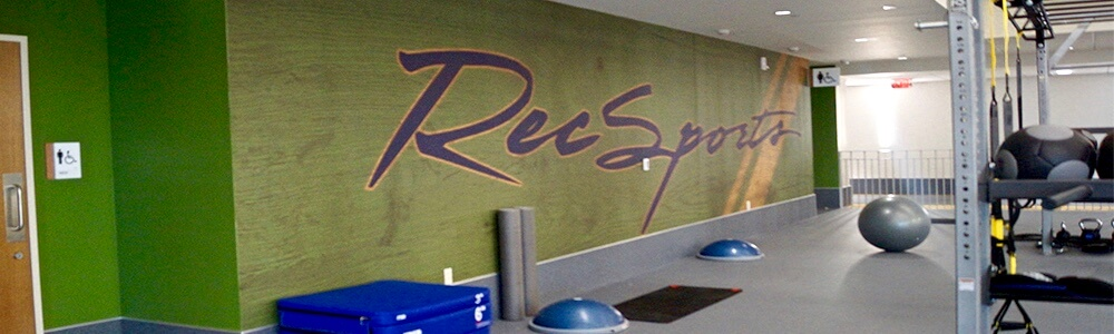 Recsports Gym Wall Mural