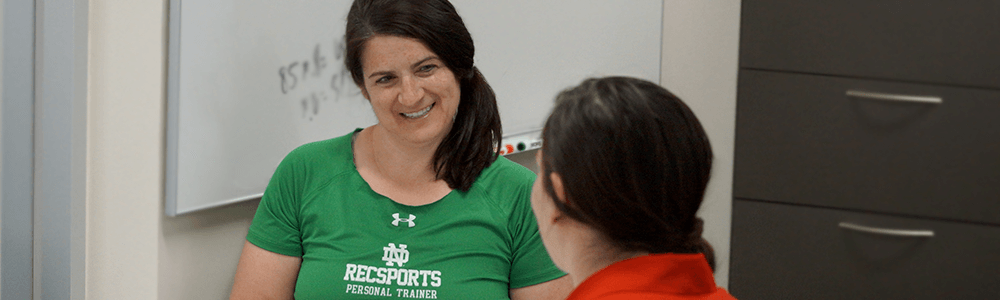Notre Dame Recsports Personal Training Consultation Spring 2018 Featured Image