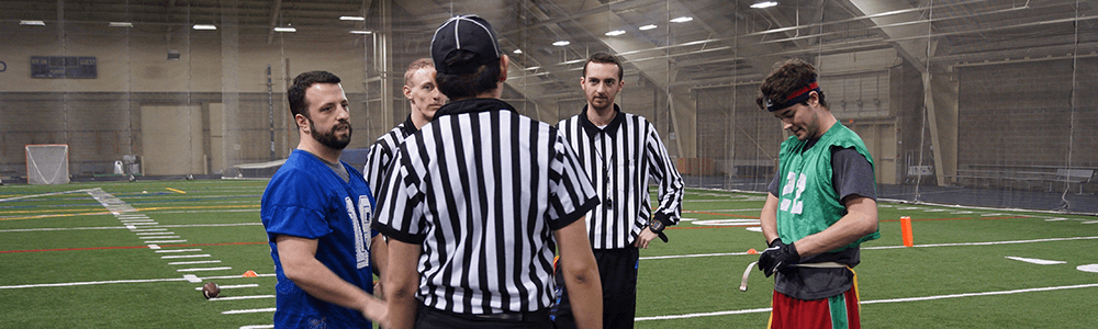 Notre Dame Recsports Officials 4v4 Flag Football Featured Image