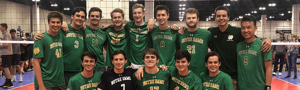 Notre Dame Recsports Club Sports Volleyball Men S Featured Image 1000x300
