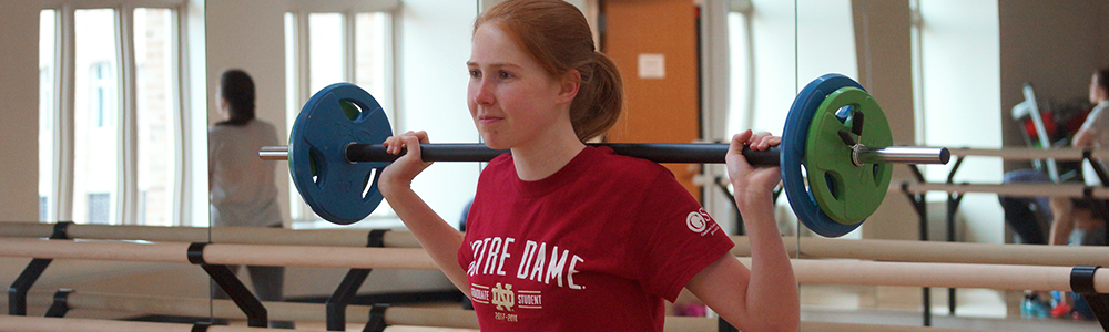 Notre Dame Recsports Fitness Intro To Pump It Up Workshop Featured Image 1000x300