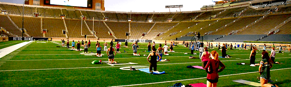 Notre Dame Recsports Sunset Yoga Featured Image 1000 X 300 Px